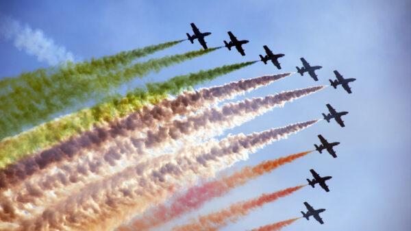 frecce tricolori salone nautico Venezia 2021